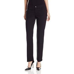 Anne Klein Black Flare Leg Compression Ponte Pants